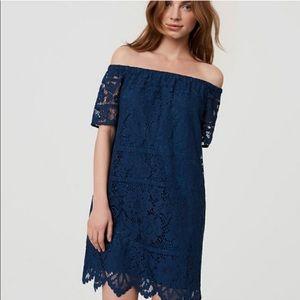 LOFT off-shoulder lacy dress